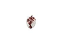Eier klein, klar mit verdrehtem Netz rot