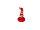 Wichtel m. gebogener Mütze groß, rot