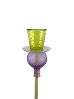 Gartenstecker grün/violett