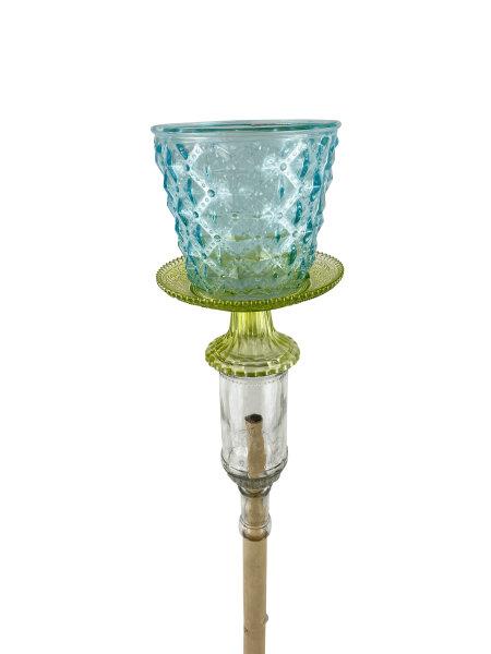 Gartenstecker blau/klar