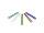 Trinkhalm, 5fbg. sort., gerade, 15cm,Ø8mm, 10 x 10er Set