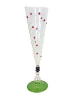 Pokale/ Champagner-Gläser rot/grün