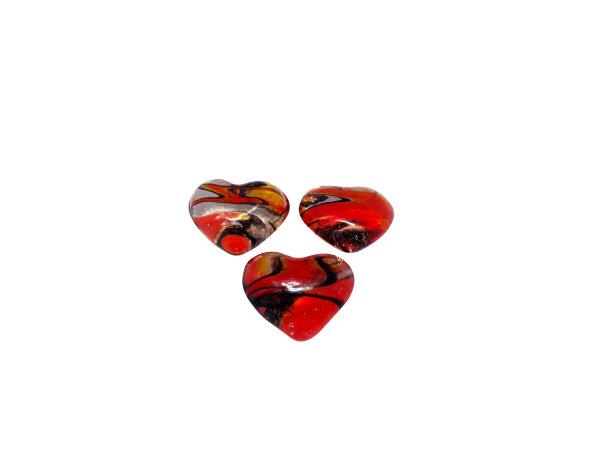 Streuteile Herz, rot-schwarz