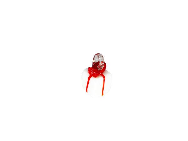 Mini-Päckchen weiß/rot