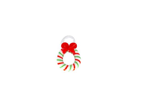 Mini-Kranz grün/weiß/rot