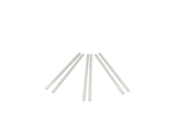 Trinkhalm, klar, gerade, 15cm, Ø8mm, 10 x 10er Set