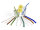 Smoothie-Trinkhalm, 5fbg. sort., gerade, 15cm,Ø10mm, 10 x 10er Set