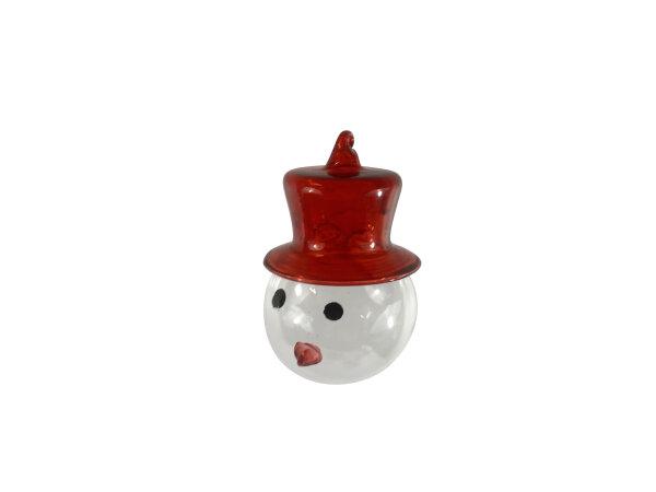 Schneemannkopf, rote Mütze