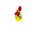 Minihahn stehend, gelb