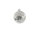 Kugel m. Netz Ø8cm, grau