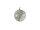 Kugel m. Netz gedreht Ø8cm, grau