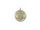 Kugel m. Netz gedreht Ø8cm, gold