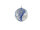 Kugel m. Netz gedreht Ø8cm, blau