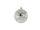 Kugel m. Stern Ø10cm, grau